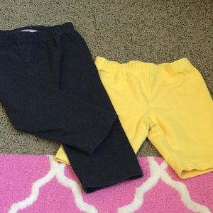 Hanna Andersson shorts and leggings 120